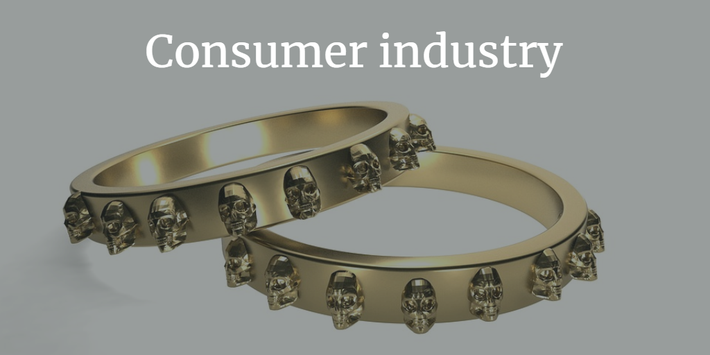 3d printing used for consumer industry
